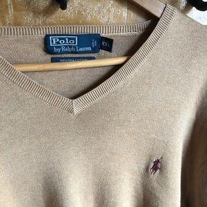MENS Polo Vneck sweater xxl